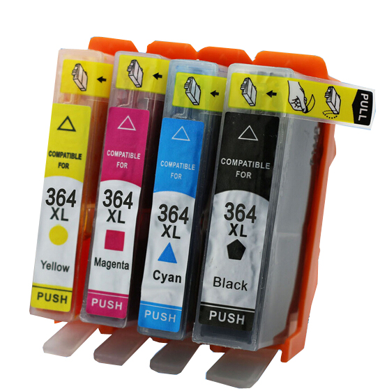 Ink Cartridges <font><b>364</b></font> 364XL For PhotoSmart 5520 5510 6520 7520 b110a with Chips image