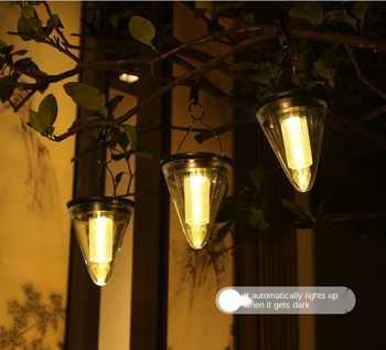 2020 New Solar Led Light Outdoor Waterproof Solar Garden Llight Hanging Landscape Villa Balcony Solar Lamp For Garden Decoration