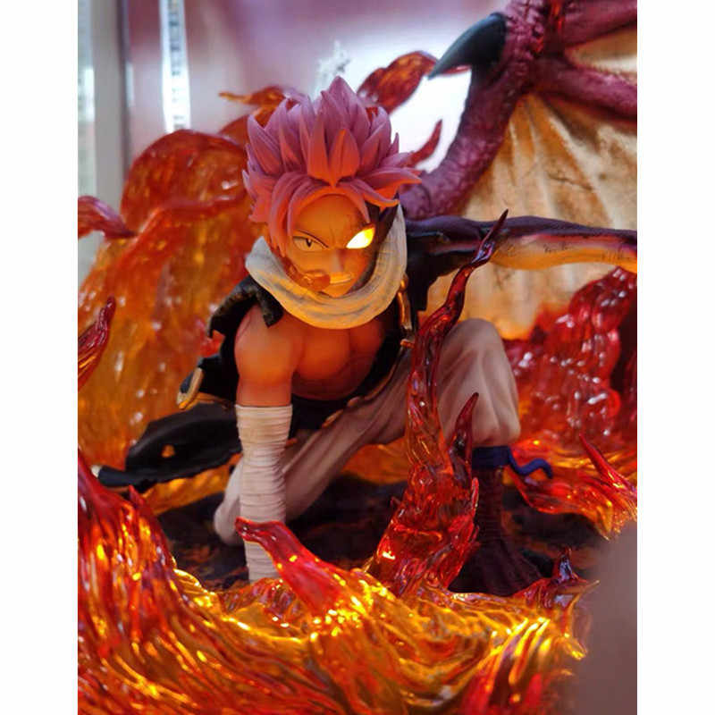 Action Figures Fairy Tail Etherious /• Natsu /• Dragneel Modell Charaktere Statue Dekoration Souvenir-Dekorationen Geschenk,23CM