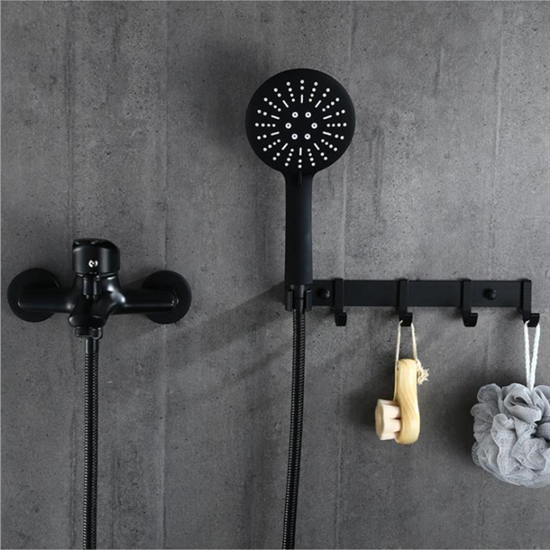 1set Bathroom Tub Faucet Single Handle Cold And Hot Mixer Tap With Hand Shower Wall Mounted Bath Faucet Bathtub Faucet