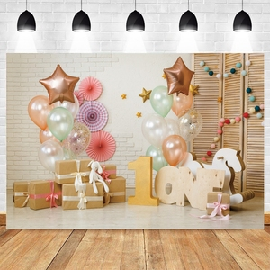 1st Birthday Photography Backdrop Birthday Party Balloon Baby Room Photographic Background For Photo Studio Vinyl Photophone