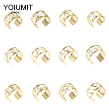 Crem 2019 Trendy Stainless Steel Free Size Two Line Ring Style Gold Adjustable Leather Anniversary Ring Jewelry Gift for Her цены