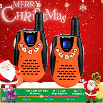 Retevis RT602 Rechargeable Walkie Talkie Kids 2pcs Children's radio 0.5W With Battery Birthday Christmas Gift Toys For Game - discount item  32% OFF Walkie Talkie
