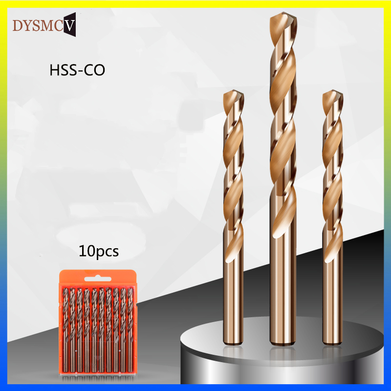 10PCS 0.5mm1.5mm 2.5mm 3.5mm 4.0mm M35 HSS-CO Cobalt Drill Bits HSS Twist Drill Bit For Stainless Steel