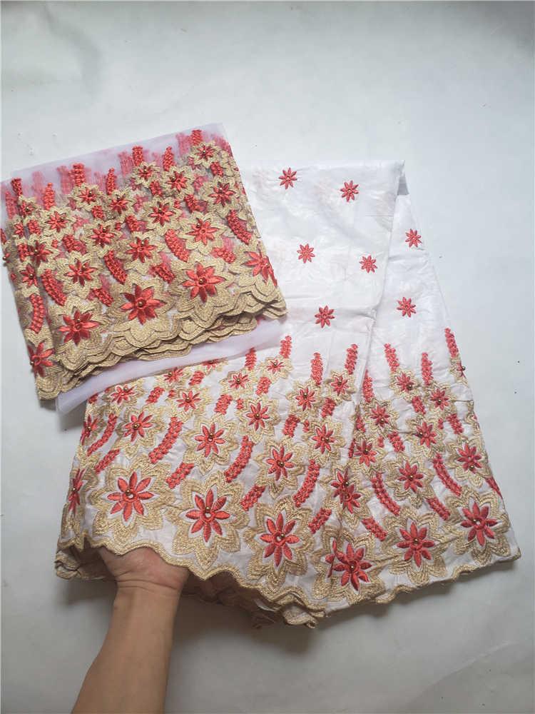 Prix de vente dernière bazin dentelle avec tulle dentelle pour écharpe tissu africain bazin riche pour les robes de soirée nigérianes Winn599m