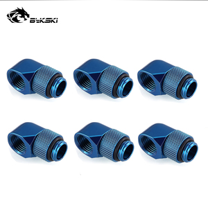 Image 4 - 6pcs/lot G1/4 90 Rotary Compression fitting 90 degree Rotary Fitting water cooling Adaptors Metal Connector