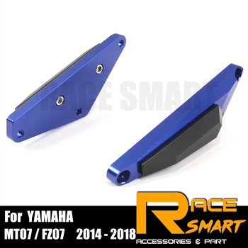 1 Set Engine Crash Bunds Pads For YAMAHA MT 07 2014-2017 Slider Protector MT07 MT 07 MT-07 FZ 07 FZ07 FZ-07 14 15 16 17 фото