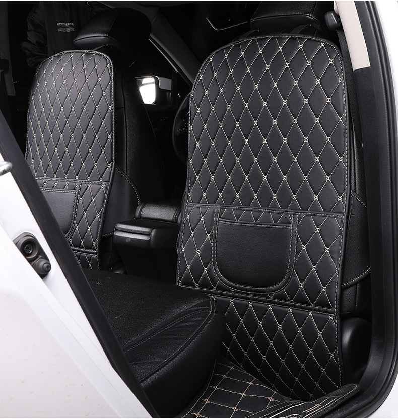 1/2 pcs Universal Car Seat Back Protector Cover Children Anti-kick Pad Wear-proof Anti-Dirty Mat with Storage Bag Seat Cover