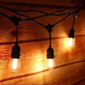 Image 2 - Thrisdar 10M S14 String Light With 10PCS E27 LED Retro Edison Filament Bulb Outdoor Street Garden Patio Holiday Garland Light