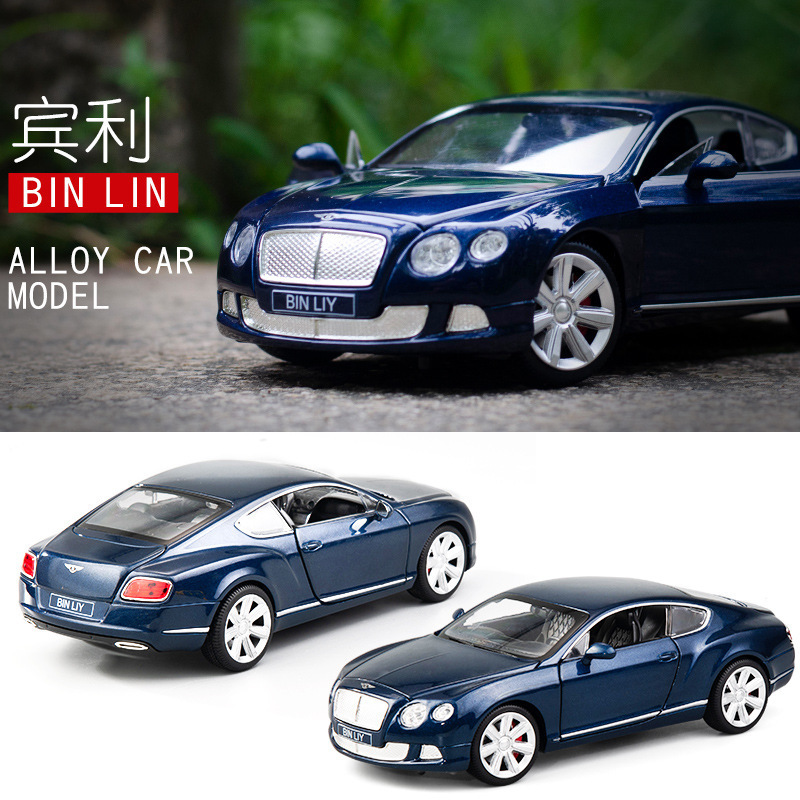 1:24 Simulation Bentley Continental GT Alloy Car Model Collectible Toy Car Diecast Model Indoor Decoration Kids Birthday