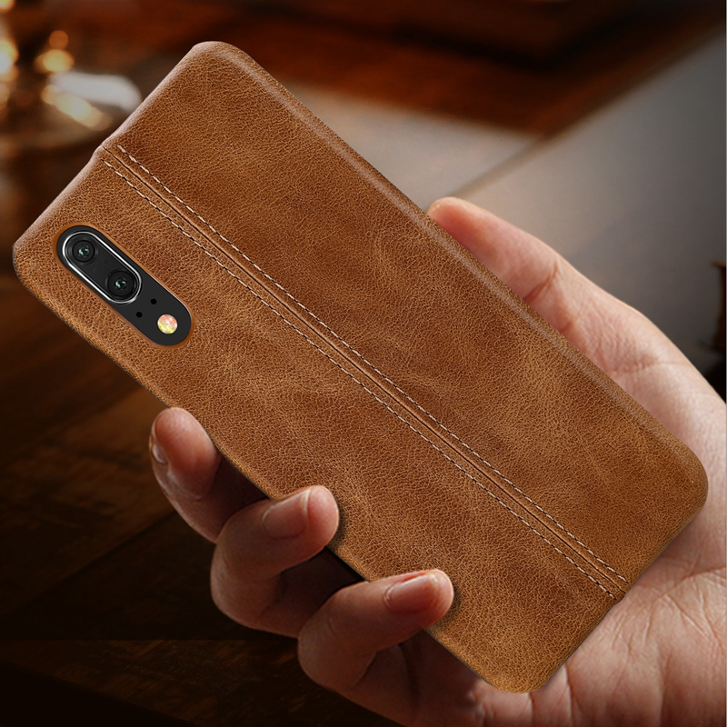 P30 Genuine Leather Case For Huawei P30 Pro P30 Lite Real Leather Back Case For Huawei P20 Mate 9 10 Pro 20 Lite Mate Rs Cover in Half wrapped Cases from Cellphones Telecommunications