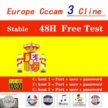 Stabilny Cccam Cline hiszpania niemcy Italia portugalia Receptor 1 rok europa Cline serwer HD satelitarny odbiornik TV 48h darmowy test tanie tanio ZIICOYO DIGITAL Cccam-J58-1