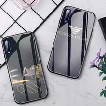 Funda de teléfono de lujo EA7, cristal para Huawei P30 Lite 20 Por P9 10 Honor 8X9 10 NOVA 5