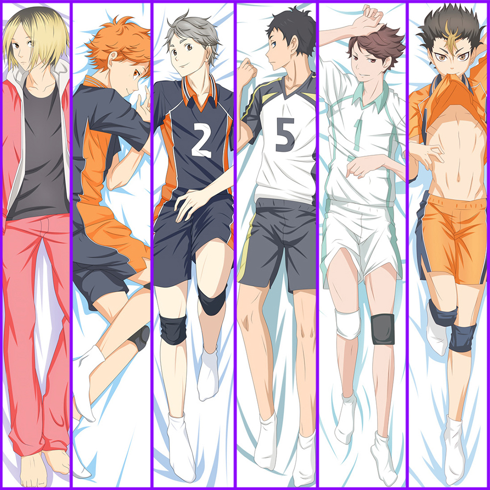 Anime Haikyu Shoyo Hinata Dakimakura Hugging Body Pillow Case Male Character Tobio Kageyama Throw Pillow Cover