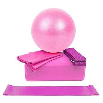 pelotas fitness Yoga Starter Kit 5pcs Yoga Equipment 1 yoga ball + 1 latex towel +1 yoga brick +1 yoga circle +1 stretching band yoga cures