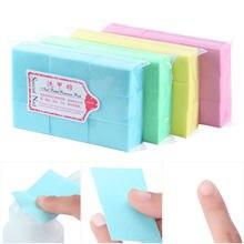 600 unidades/pacote prego limpeza almofada uv gel removedor de polimento toalhetes unha arte dicas manicure limpeza toalhetes algodão lint livre almofadas papel