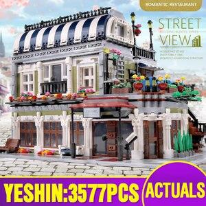 Image 3 - MOC 10218 Streetview yapı taşları ile uyumlu MOC 18923 kitap dükkanı eski şehir Pub Victor Lab olarak çocuklar noel hediyeler