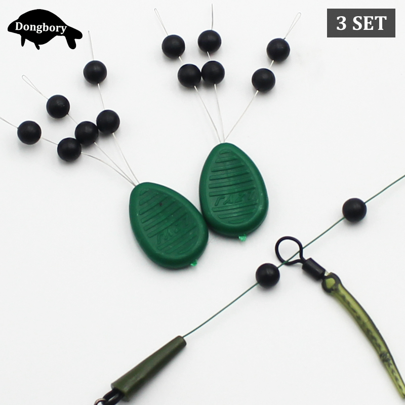 3Set=18PCS Carp Fishing Naked Chod Beads Round Shock Bead Helicopter Rig Stopper Bead For Running Rig Fishing Tackle Accessories