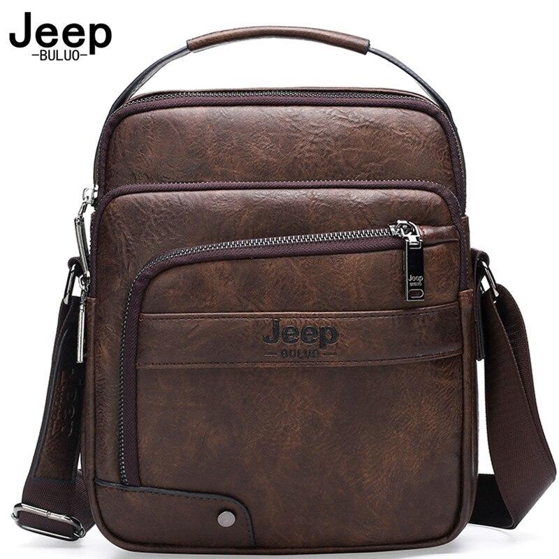 JEEP BULUO Männer Leder Taschen Neue Hohe Qualität Mode Business Umhängetasche umhängetasche Für Mann große Kapazität Männlichen Messenger Taschen