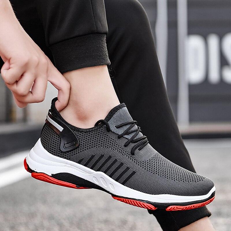 Fashion 2019 Men Vulcanize Shoes Casual Shoes Comfort Sneakers Non-slip Male Mesh Tenis Masculino Plus Size 39-45