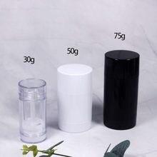 Pacote vazio plástico transparente tubo de cola sólida 30g 50g 75g recipiente de desodorante loção cosmética de alta capacidade