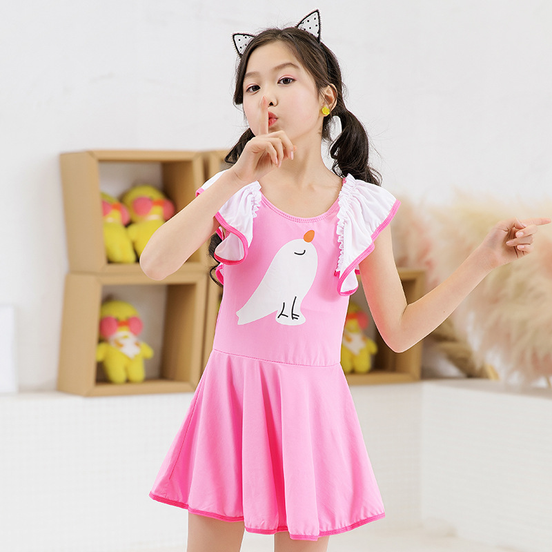 New Style GIRL'S Swimsuit Princess Dress-Big Boy One-piece Boxers Korean-style Baby Cute Bathing Suit