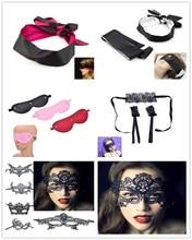 Sex Handcuffs SM Bondage Couple Sex Toy For Women Eye Mask Shade Blindfold Ribbon Reversible Sex Slave Bondage Erotic