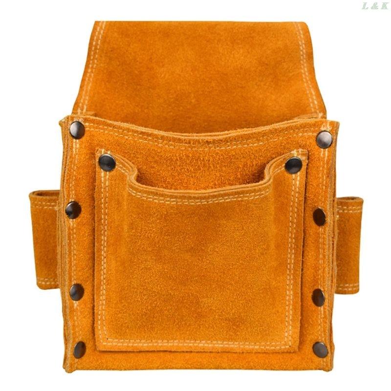 Electrician Waist Tool Belt Pouch Bag Screwdriver Kit Repair Tool Holder Leather U50A