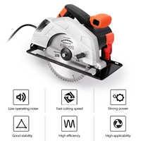 Sierra Circular eléctrica de 7 pulgadas para cortar madera, Mini Plantilla de mango, herramientas eléctricas, máquina de motosierra eléctrica de aluminio para carpintería