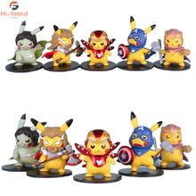 New Pikachu cosplay Avengers Endgame Thor Thanos Hulk iron Man Captain America Action figure speelgoed pop kerstcadeau met doos
