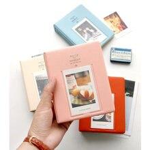 Nouveau 64 poches étui pour Album Mini étui Photo instantané stockage Photo pour Fujifilm Instax Mini Film couleur aléatoire