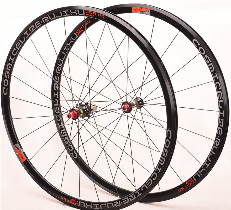 Ultra light <font><b>bmx</b></font> Road bike <font><b>wheel</b></font> set 700C 30MM 4 Sealed Bearing V Brake Aluminium Alloy Bicycle <font><b>Wheels</b></font> 8 9 10 11 Speed Wheelset image