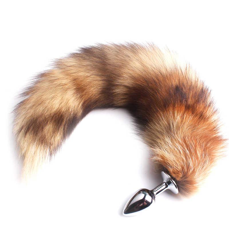 Plug anal enorme de raposa, rabo de rabo anal, brinquedos sexuais macios para mulheres, homens, sex shop, cão, wolf tail dispositivo de masturbação sex shop