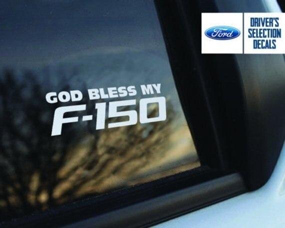 Per Lautoadesivo Della Decalcomania Dio Benedica il mio Ford F150 window Sticker decalcomanie grafici Set di 2