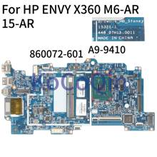 Placa-mãe do portátil de kocoqin para hp envy x360 M6-AR 15-ar núcleo A9-9410 mainboard 15321-1 448.07h13.0011 860072-001860072-601(China)