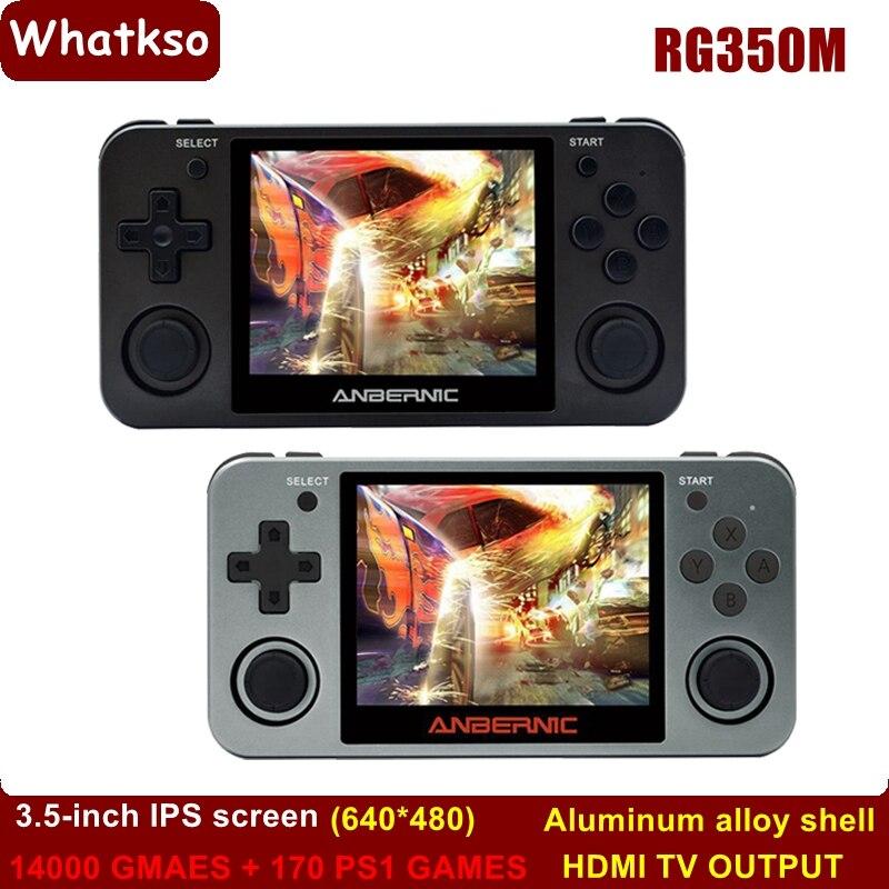 Whatsko Anbernic Retro Game RG350 Handheld Video Console Mini Gaming Consola 64...