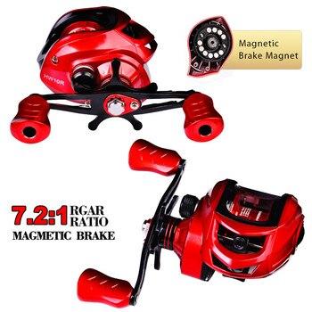 New 2021 Fishing Reel 10kg Max Drag Metal Spool Baitcasting Reel 7.2:1 High Speed Gear Ratio Magnetic Brake Casting Wheel Carp 2