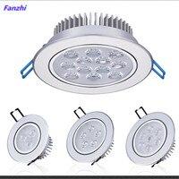 Luces descendentes de LED regulable redondo, lámpara de techo LED COB empotrada de 3W, 6W, 10W, 14W y 18W, iluminación interior de ac85-265V