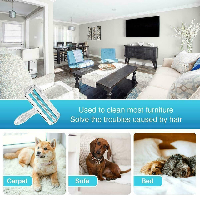 2 Way Pet Hair Remover Roller For Cats And Dogs  5