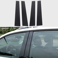 Car Body Middle Column Side Cover Frame Trim Sticker Exterior Accessories Auto Window Frame 4Pcs For Volkswagen VW Touran 2018