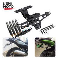 Motorrad Hinten Lizenz Platte Montieren Halter und Blinker Licht Für Honda Für Kawasaki Z750 Z800 Für YAMAHA MT07 MT09 MT10 R1 3