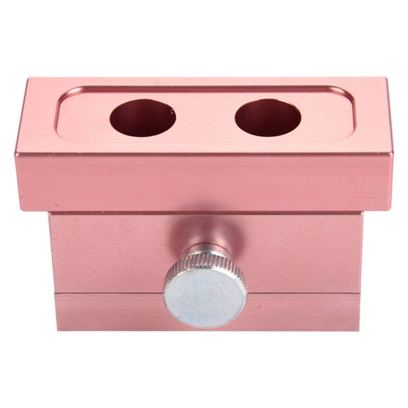 1 Set Durable Aluminum Alloy Rose Gold Diy Lipstick Mold With 2Holes Dual Uses Lip Rouge Balm Lipbalm Fill Mould Maker Tools