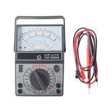 Mf47f tensão atual tester resistência display analógico ponteiro multímetro dc/ac indutância medidor