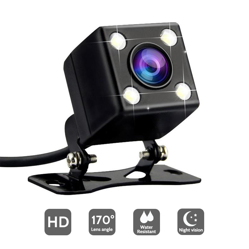 HD Night Vision Reverse Camera Car Rear View Camera With LED Lights 170 Degree Viewing Angle Parking Camera Without Guiding Line