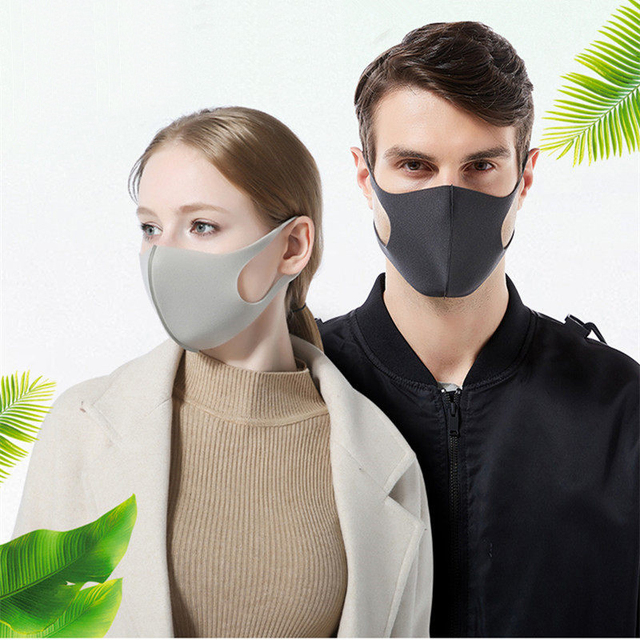 12PCS Mouth Mask Cotton Blend Anti Dust and Nose Protection Face Mouth Mask Fashion Reusable Masks for Man Woman Washable 3