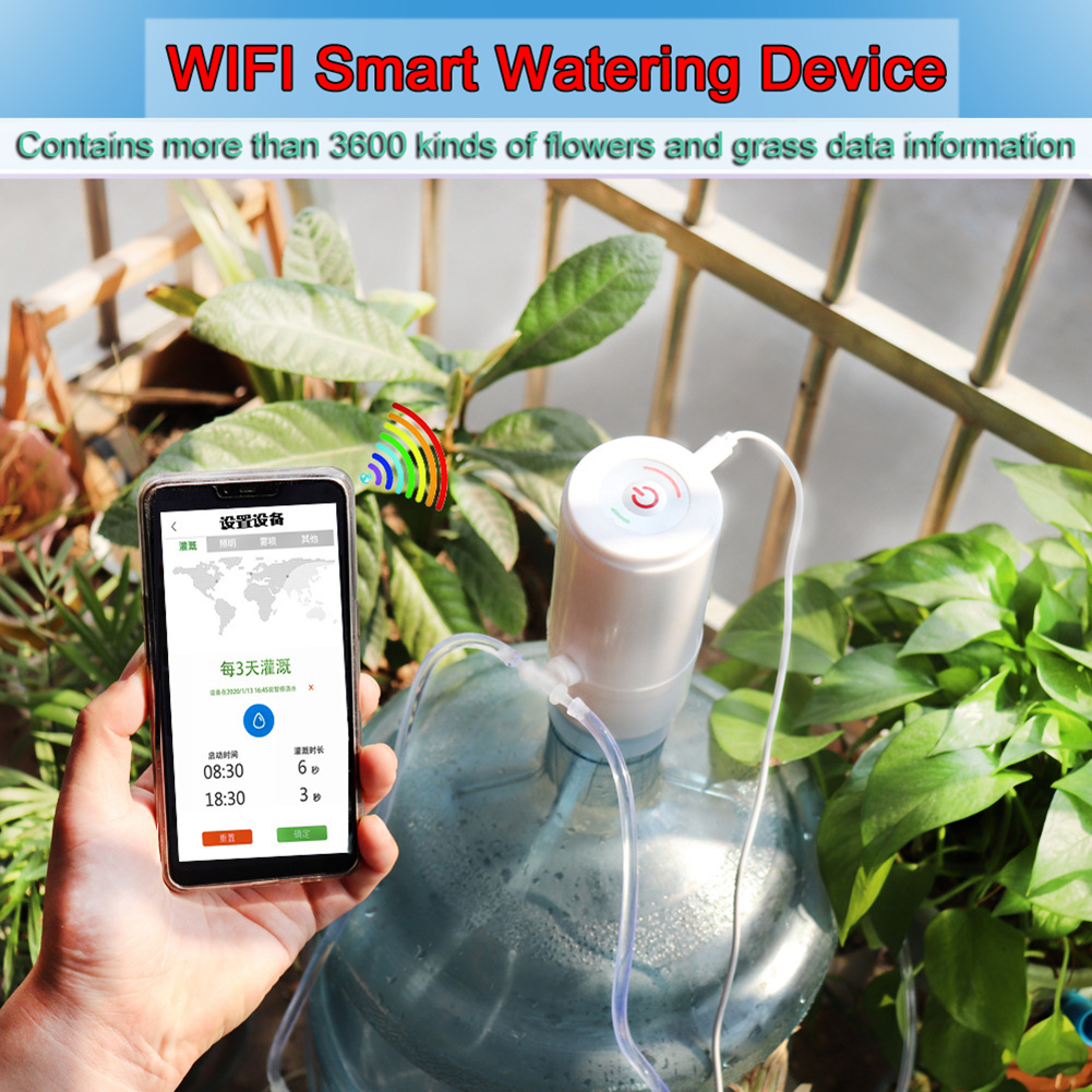 WiFi App Control Garden Automatic Drip Irrigation System Plant Watering Device Plant Water Pump Timer For Garden Patio