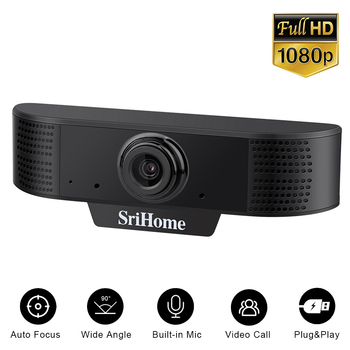 mini webcam full hd 1080p usb camera webcamera auto focus 1920*1080 web for computer with microphone For OS Windows10/8