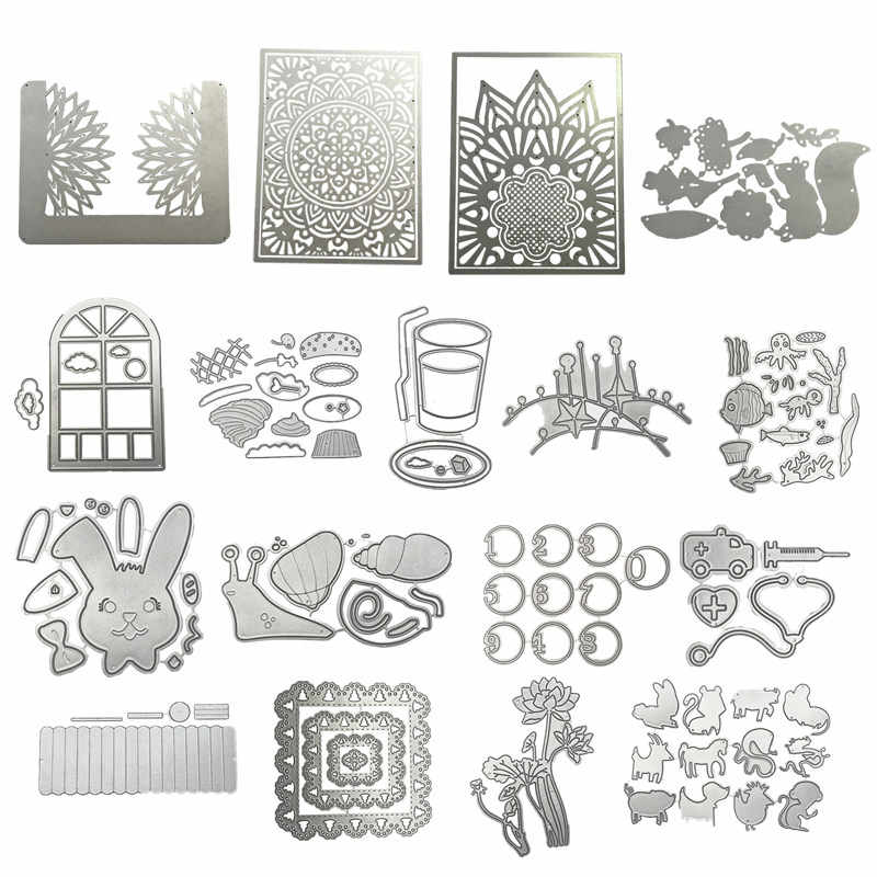 Wreath Rabbits Snails Metal Cutting Dies Scrapbooking Album Paper DIY Card decoration Craft Embossing Die Cuts 2019 New window
