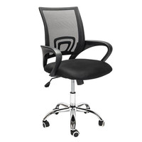 Mesh Back Gas Lift Adjustable Office Swivel Chair Black With Smooth wheels computer chair for Office