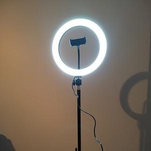 Image 5 - 10Inch Led Video Selfie Ring Licht Met 62Inch Statief Stand Telefoon Houder Fotografie Vulling Ring Licht Voor Youtube make Up Studio